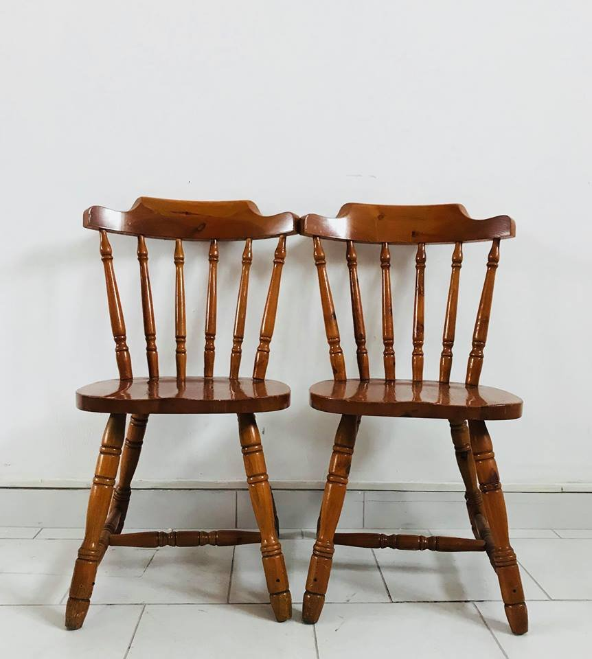 Kitchen Chairs For Sale: Rustic Kitchen Chairs, 1930s, Set Of 4 For Sale At Pamono