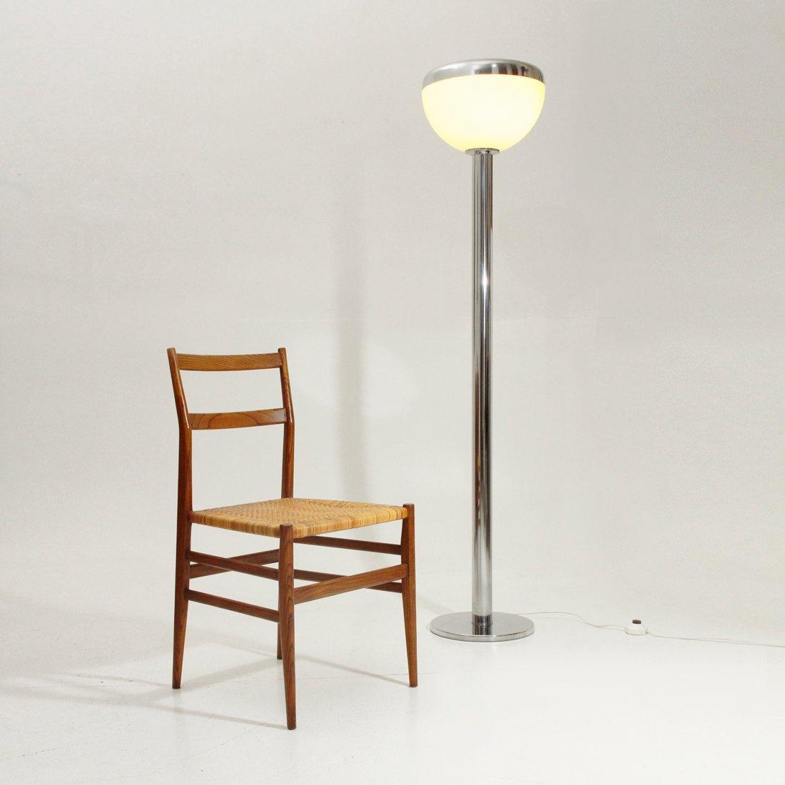 italienische vintage chrom stehlampe 1970er bei pamono kaufen. Black Bedroom Furniture Sets. Home Design Ideas