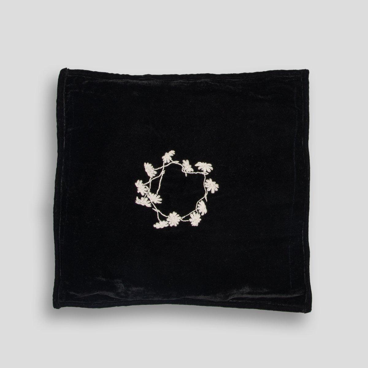schwarzes viereckiges louvre kissen von jackie villevoye f r jupe by jackie bei pamono kaufen. Black Bedroom Furniture Sets. Home Design Ideas
