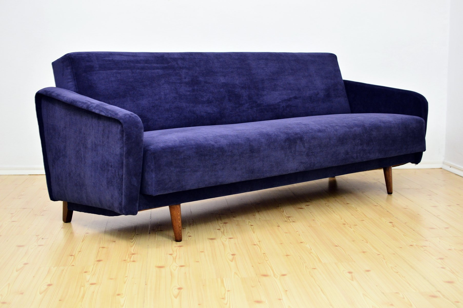 Navy Blue Sofa Bed, 1960s for sale at Pamono