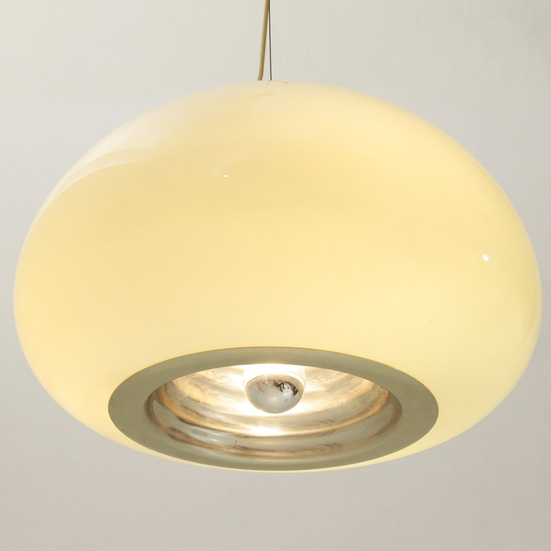 Opaline Glass Pendant Lamp by Castiglioni Brothers for Flos 1960s