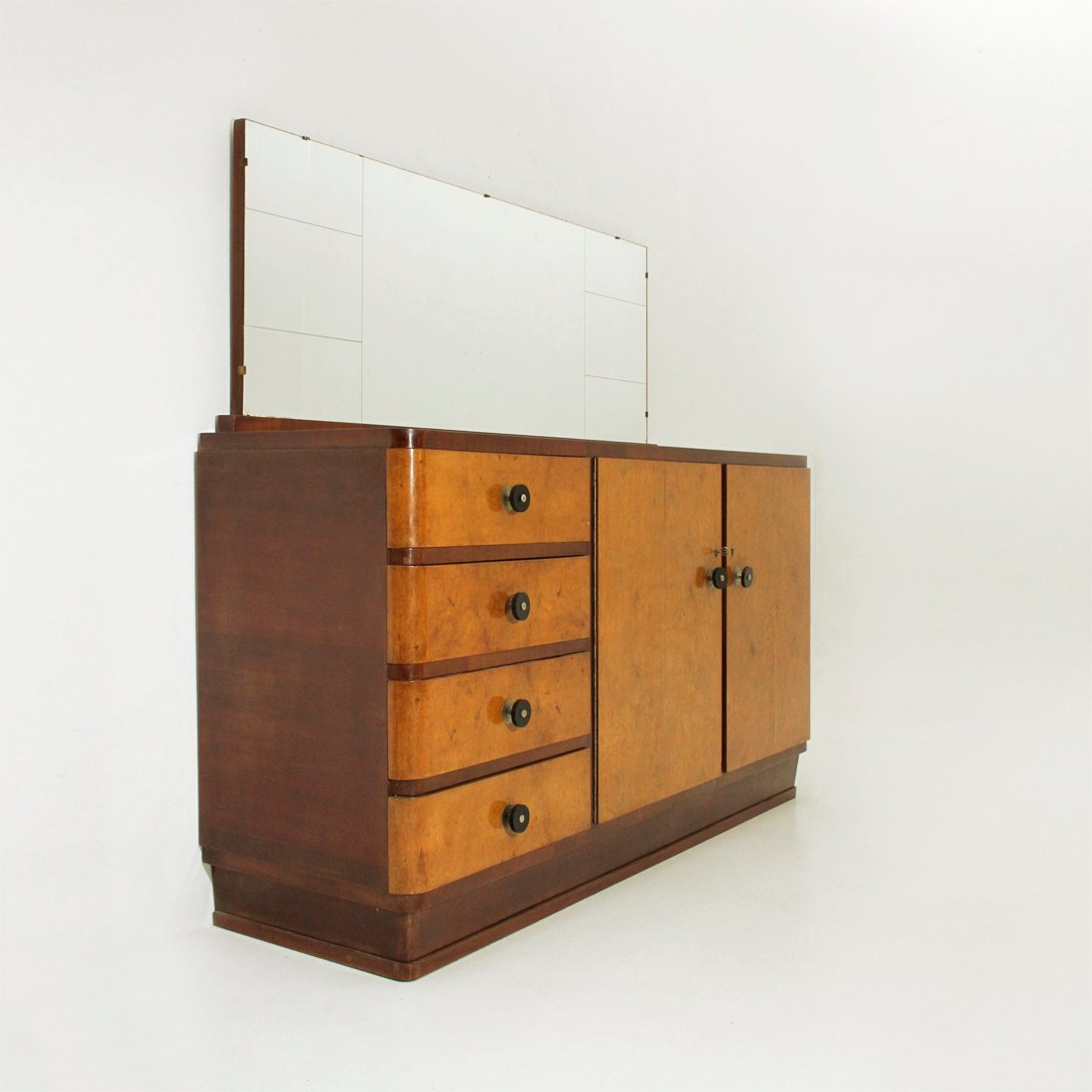 italienisches vintage sideboard spiegel 1930er bei pamono kaufen. Black Bedroom Furniture Sets. Home Design Ideas