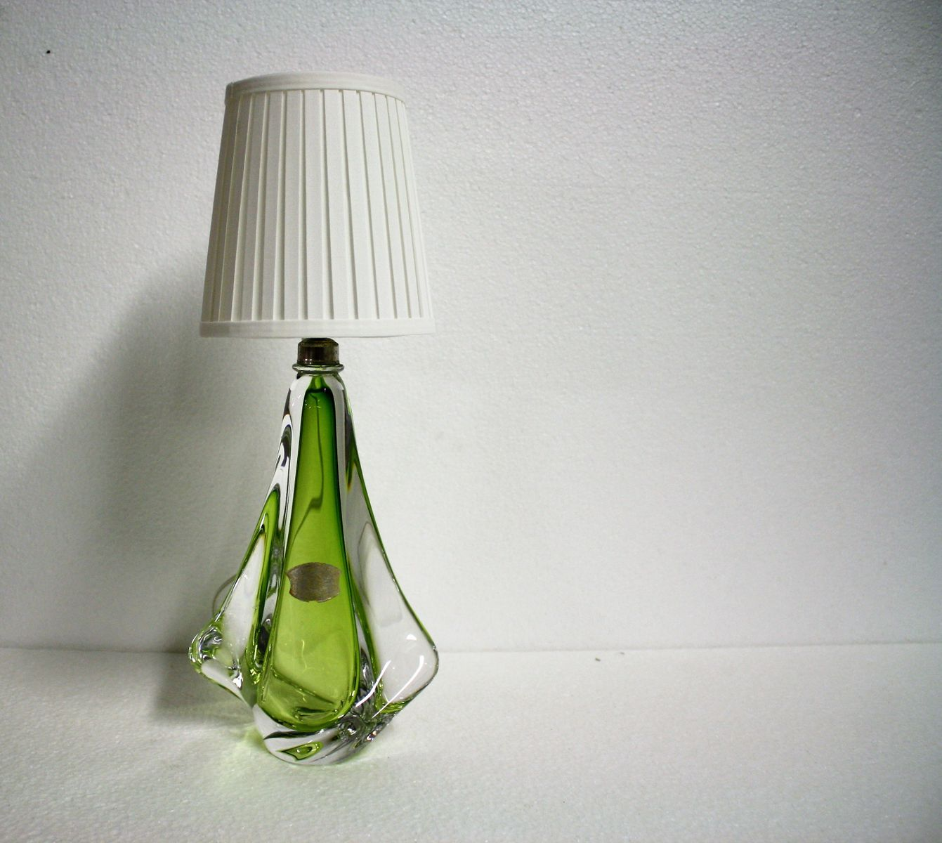 Mid century green crystal table lamp from val saint lambert 1960s mid century green crystal table lamp from val saint lambert 1960s mozeypictures Images