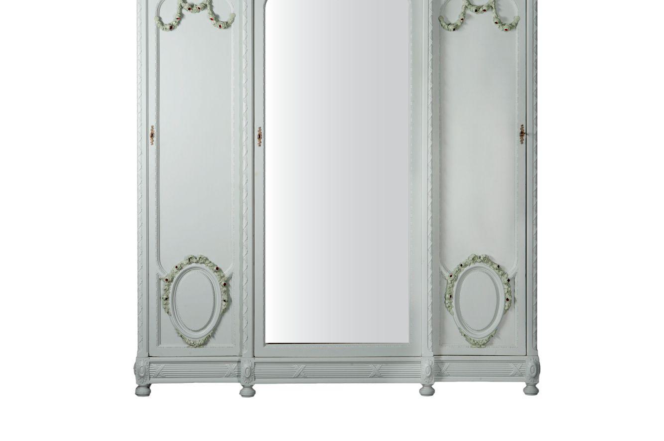 Ziemlich Antiker Kleiderschrank Mit Spiegel Galerie - Das Beste ...