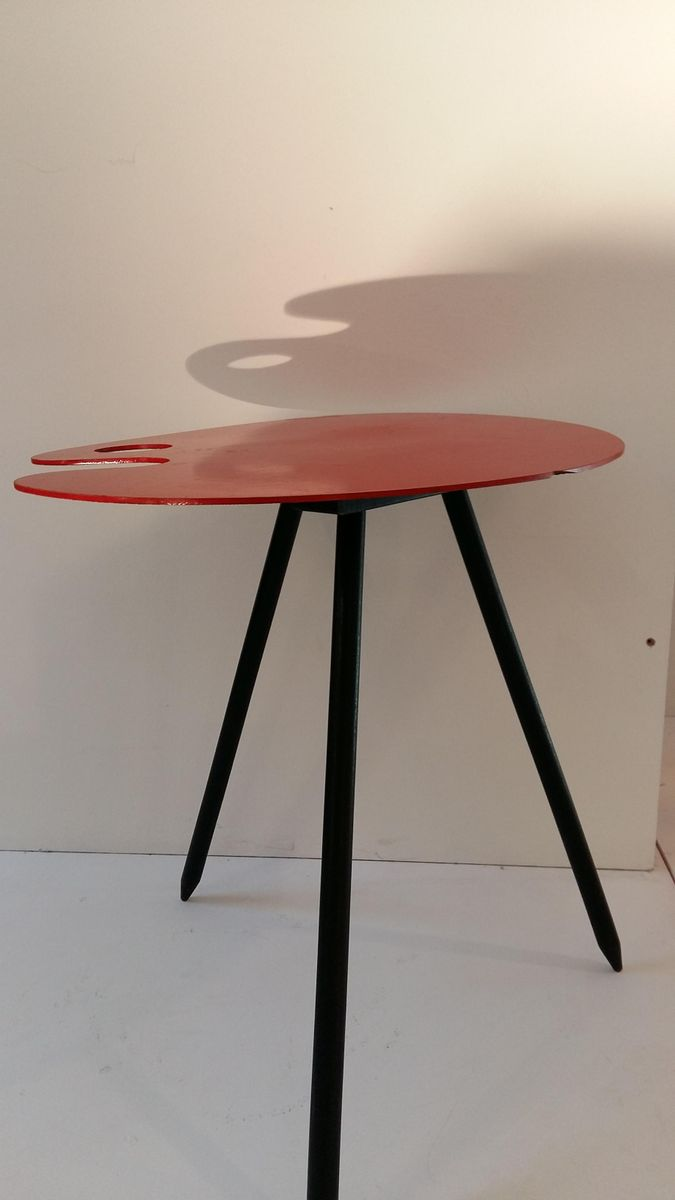 Vintage Pallet Side Table by Lucien de Roeck for Bois Manu for sale ...