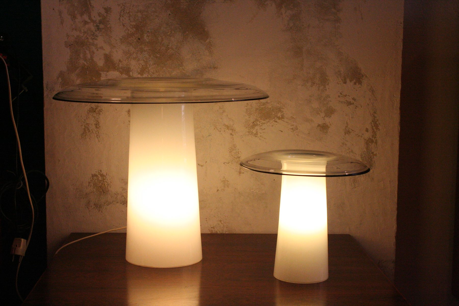 Vintage Murano Glass Table Lamps, Set Of 2 For Sale At Pamono