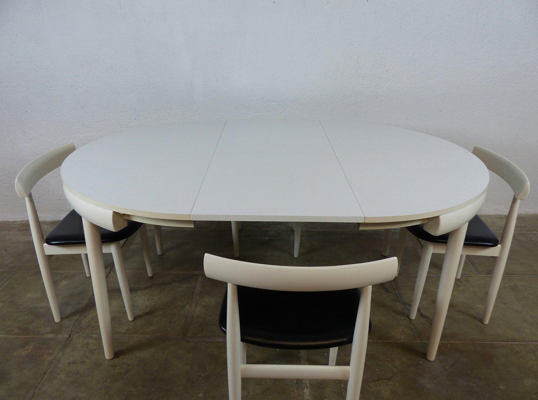 mid century tisch und st hle von hans olsen f r frem r jle bei pamono kaufen. Black Bedroom Furniture Sets. Home Design Ideas