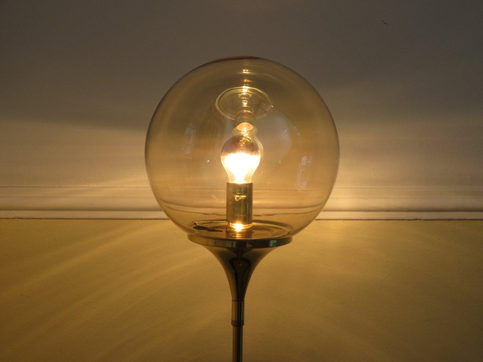 Floor lamp with trumpet foot in brass from doria leuchten for 8 ft floor lamp
