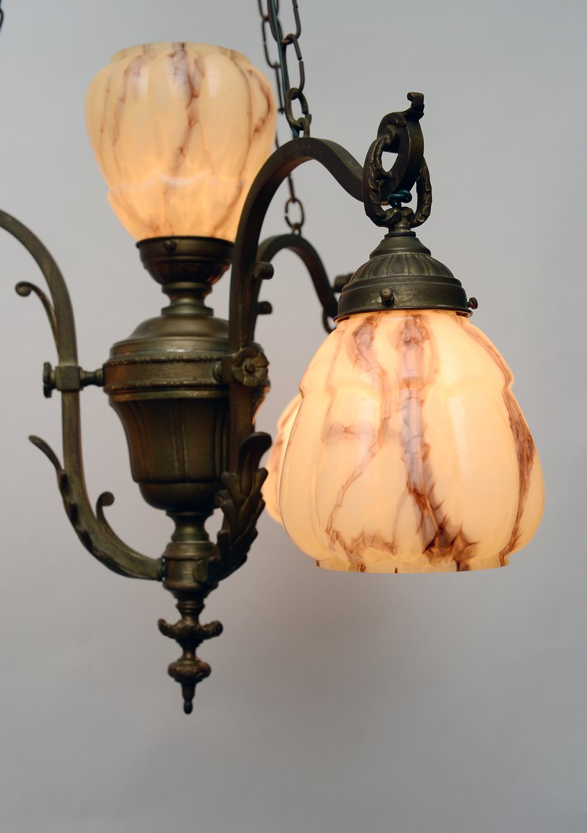 Vintage french copper chandelier for sale at pamono aloadofball Gallery