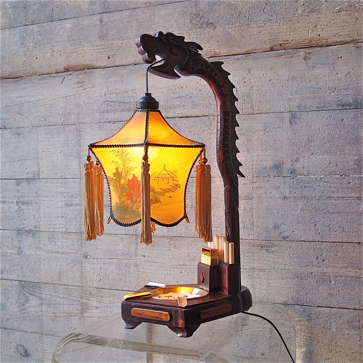 Chinese dragon table lamp with ashtray and cigarette holder 1920s chinese dragon table lamp with ashtray and cigarette holder 1920s aloadofball Choice Image