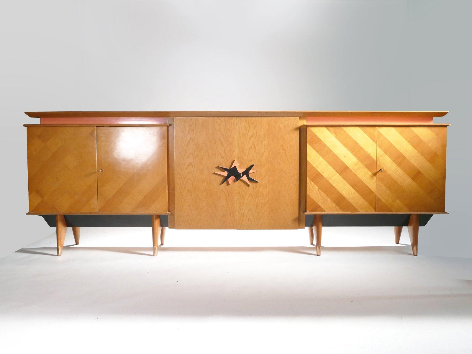 gro es modernes sideboard in kirsche 1950er bei pamono kaufen. Black Bedroom Furniture Sets. Home Design Ideas