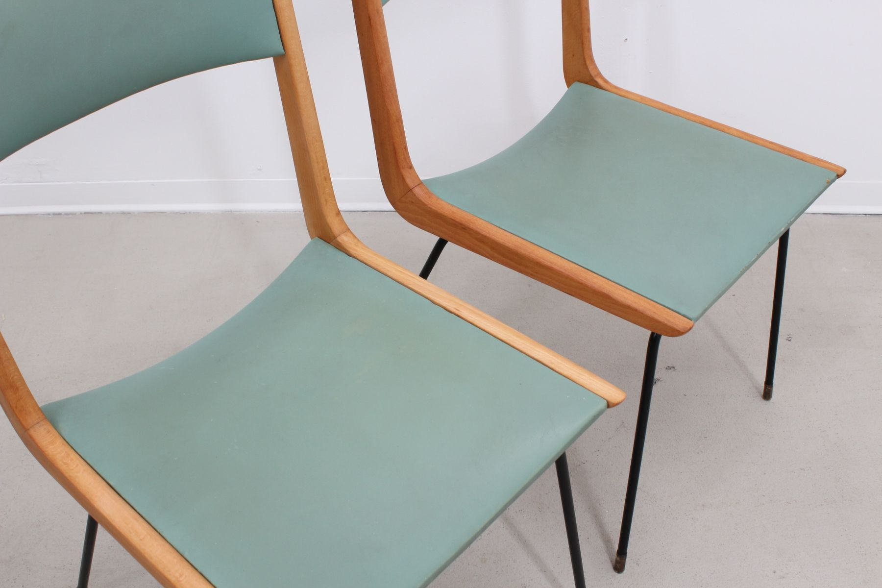 Mid Century Dining Chairs by Carlo de Carli Set of 4 for sale at