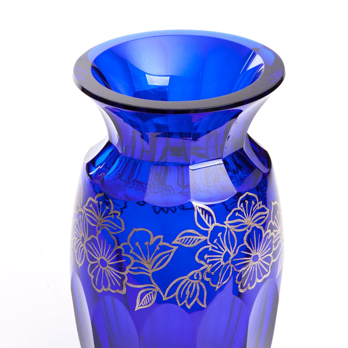 Mid century cobalt glass vase with galvanic silver decorations for price per piece floridaeventfo Image collections