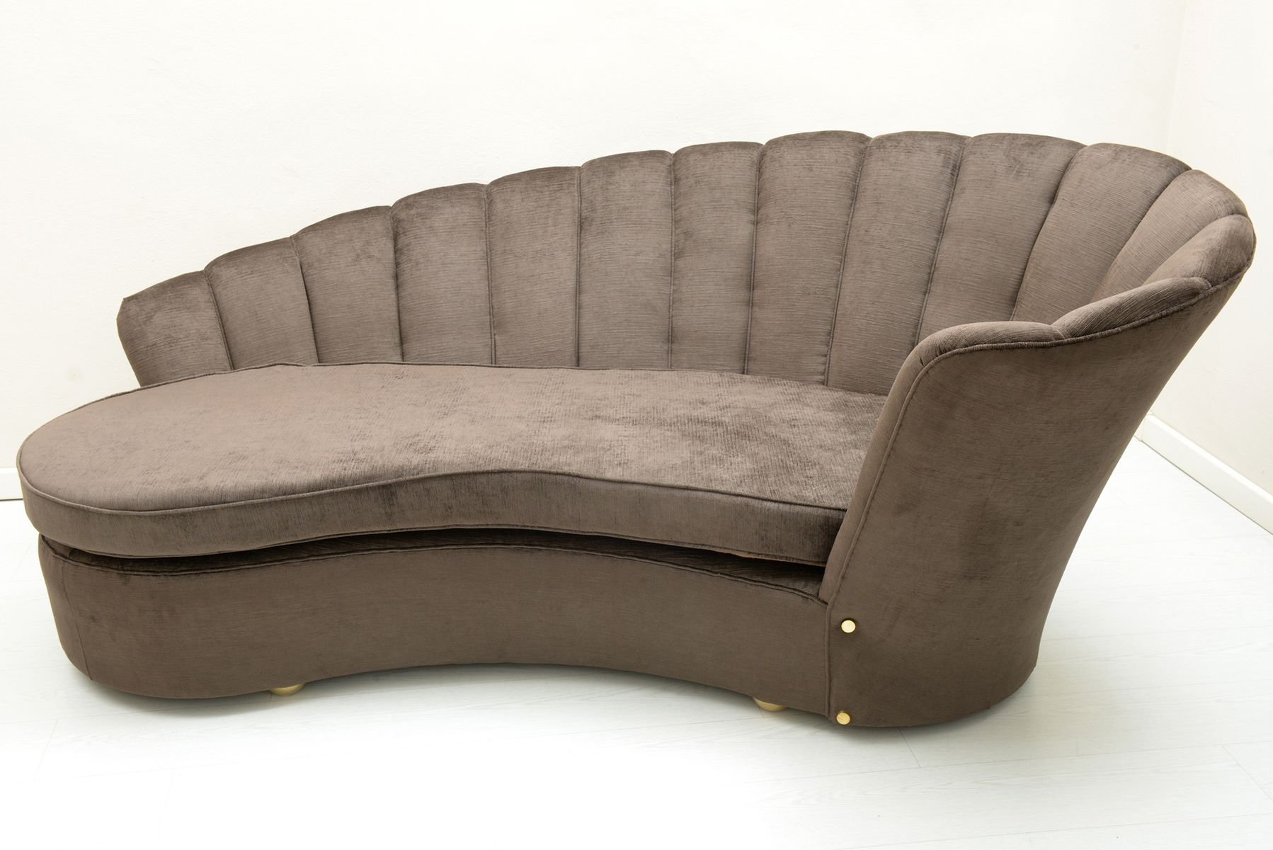 important curved sofa by arch marzio cecchi firenze 1970
