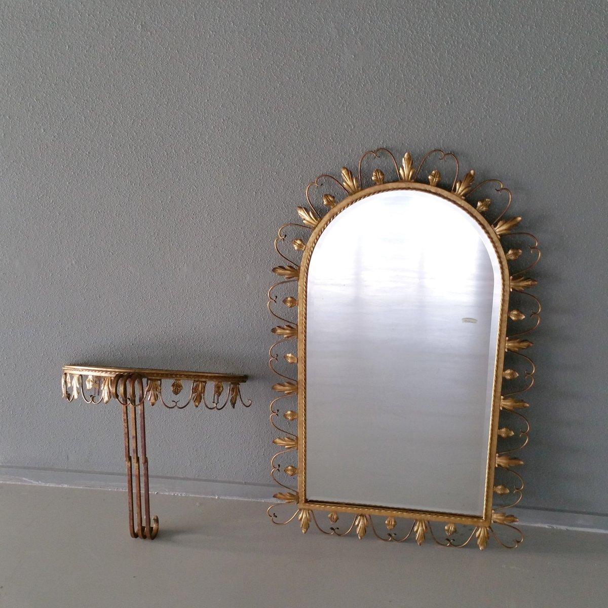 tisch mit spiegel und konsole von deknudt 1960er bei. Black Bedroom Furniture Sets. Home Design Ideas