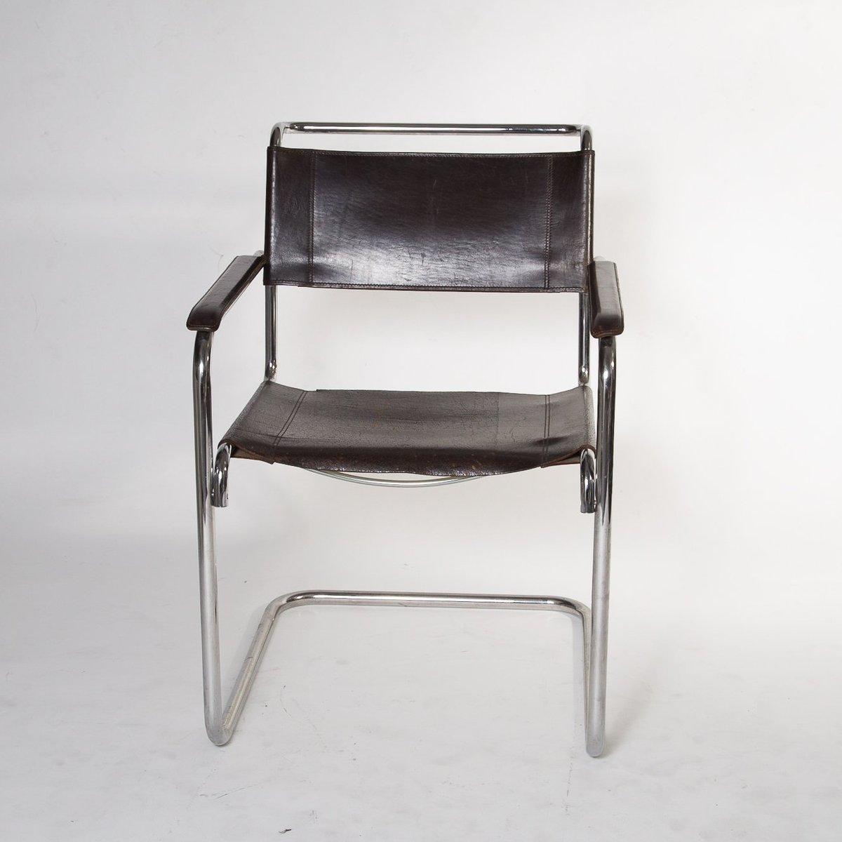 bauhaus s34 freischwinger von mart stam f r thonet 1985 bei pamono kaufen. Black Bedroom Furniture Sets. Home Design Ideas