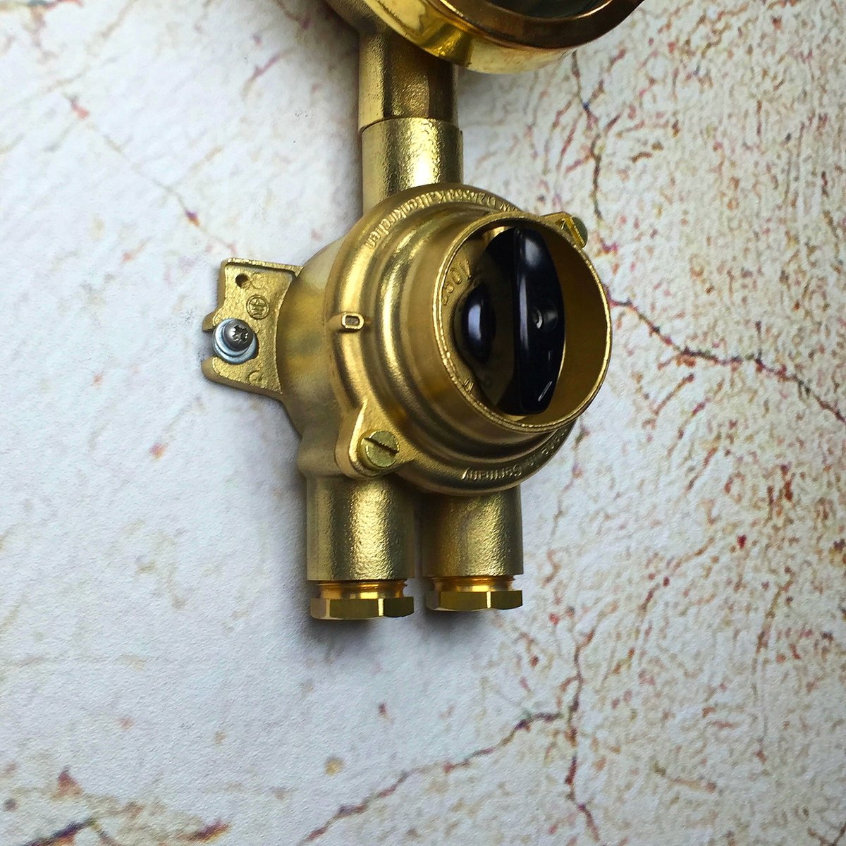 Vintage Industrial Light Switch: Vintage Brass Industrial Wall Light From Wiska, 1970s For