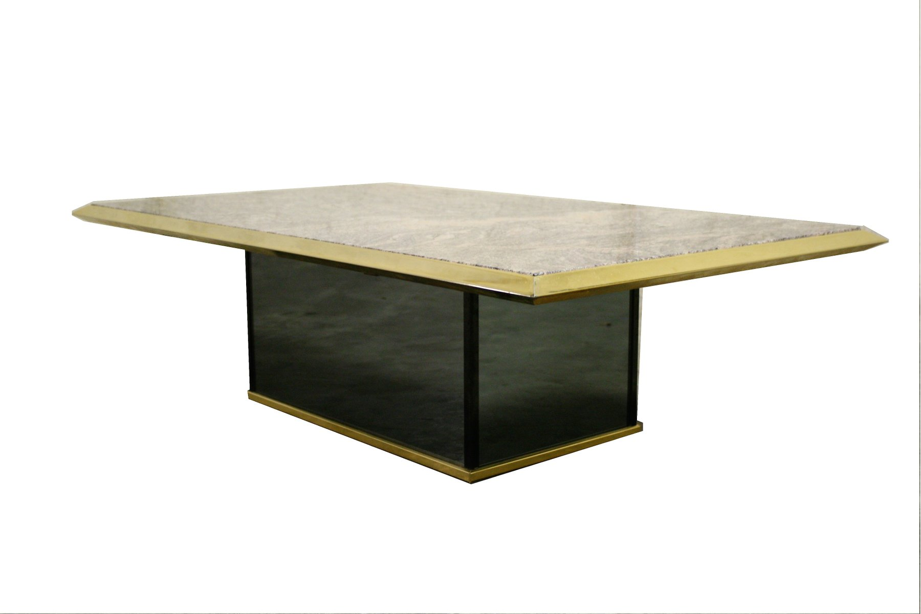Hollywood Regency Brass And Marble Coffee Table, 1970s