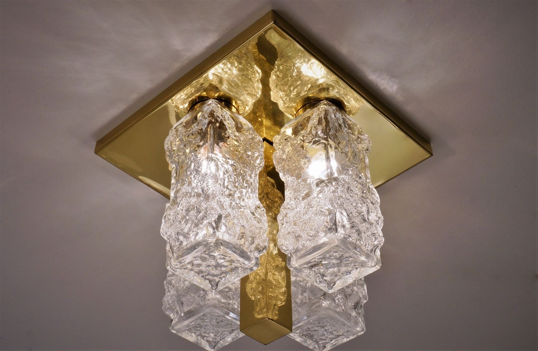 Deutsche Vintage Lampe mit Messing Gestell von Hillebrand Lighting bei Pamono kaufen