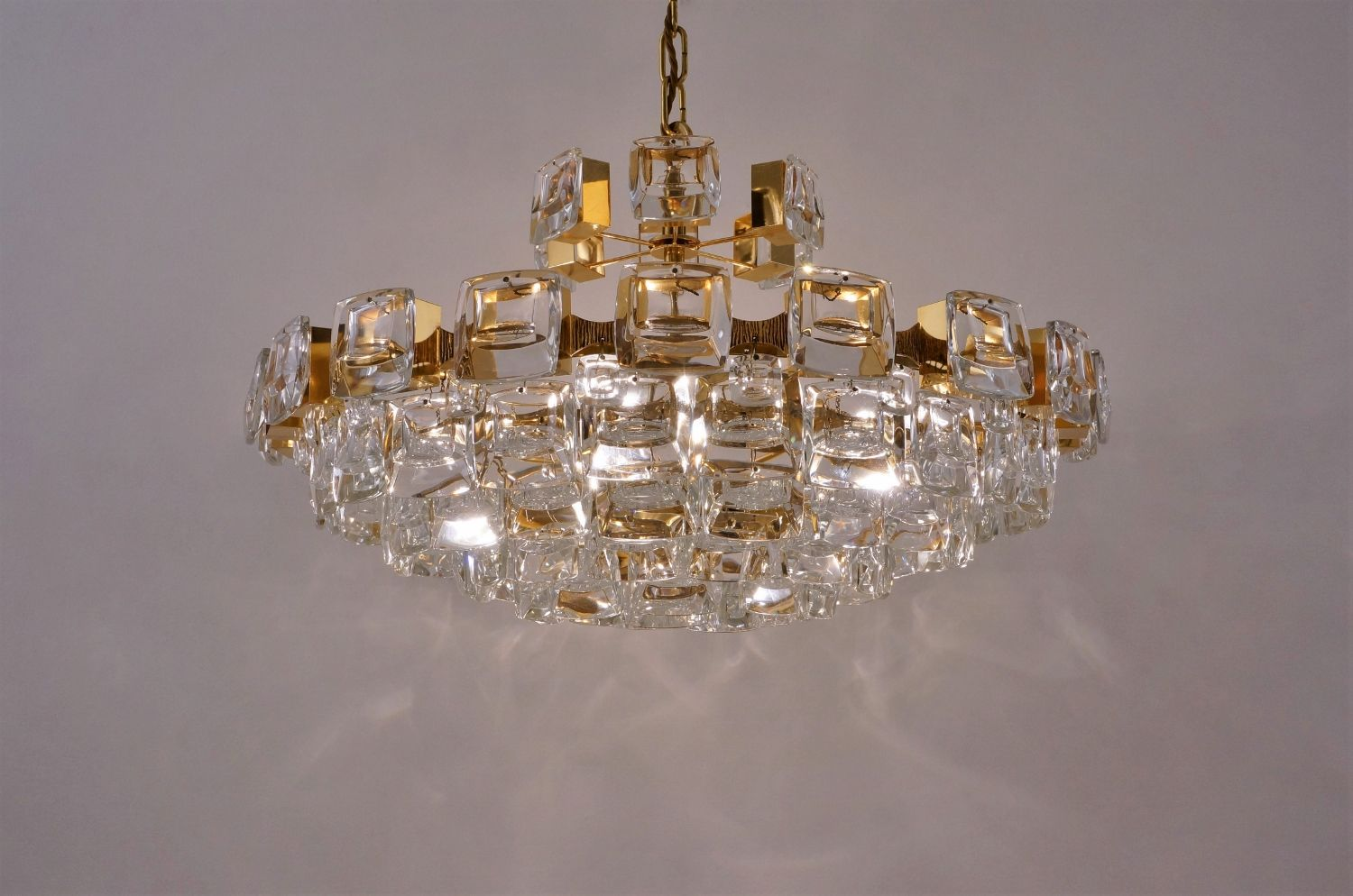 Vintage german gold plated chandelier with 101 optical crystals from vintage german gold plated chandelier with 101 optical crystals from palwa for sale at pamono aloadofball Choice Image