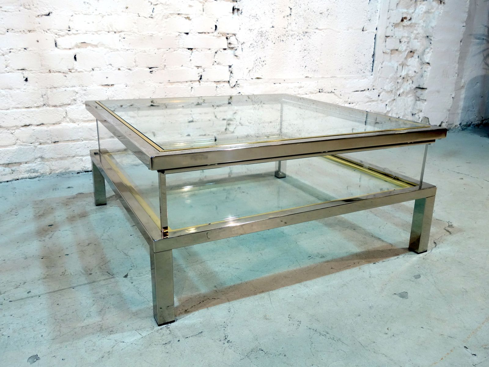 French Sliding Top Coffee Table from Maison Jansen 1970s for sale