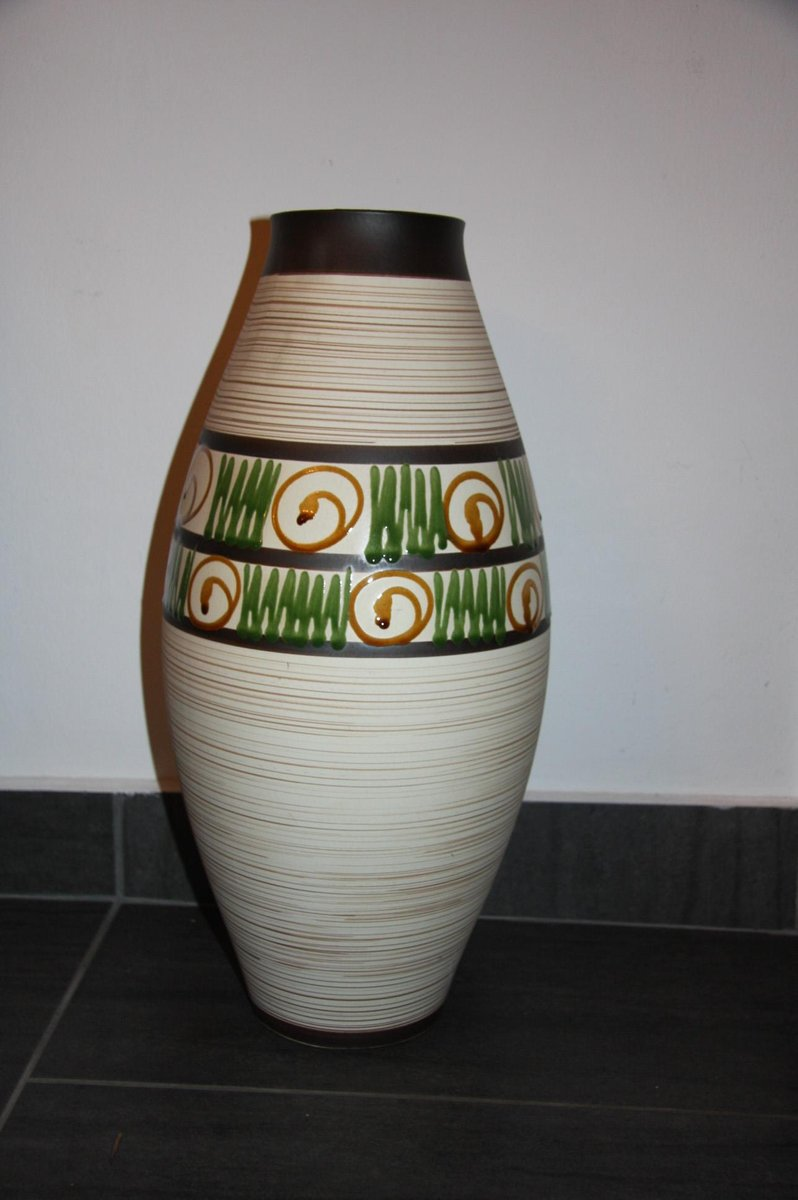 This Amazing Rare Majolica Vase Was Made By The Famous Austrian Sculptor Johann Maresch