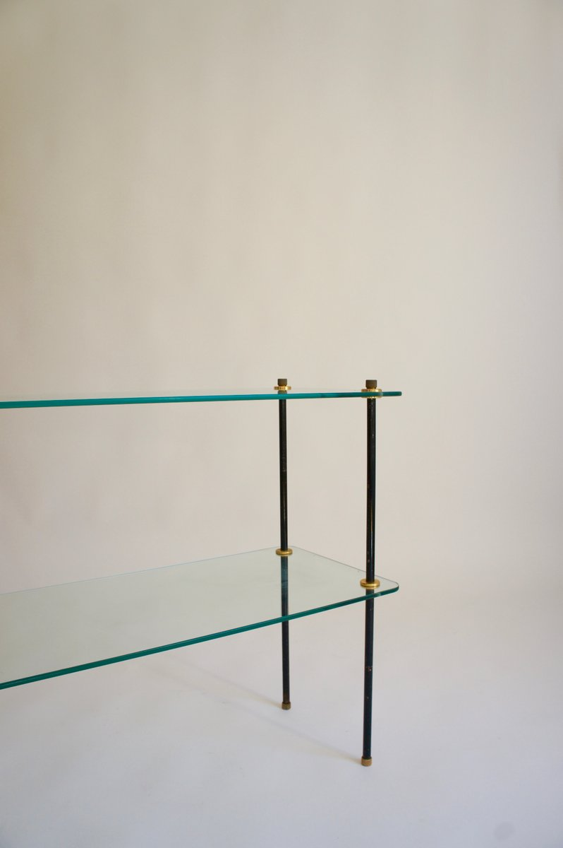 Mid Century French Glass Shelving Unit For Sale At Pamono Design Inspirations