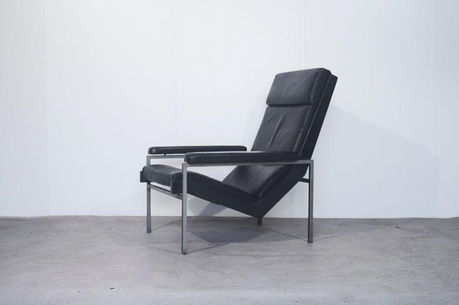 schwarzer niederl ndischer leder sessel von rob parry f r. Black Bedroom Furniture Sets. Home Design Ideas