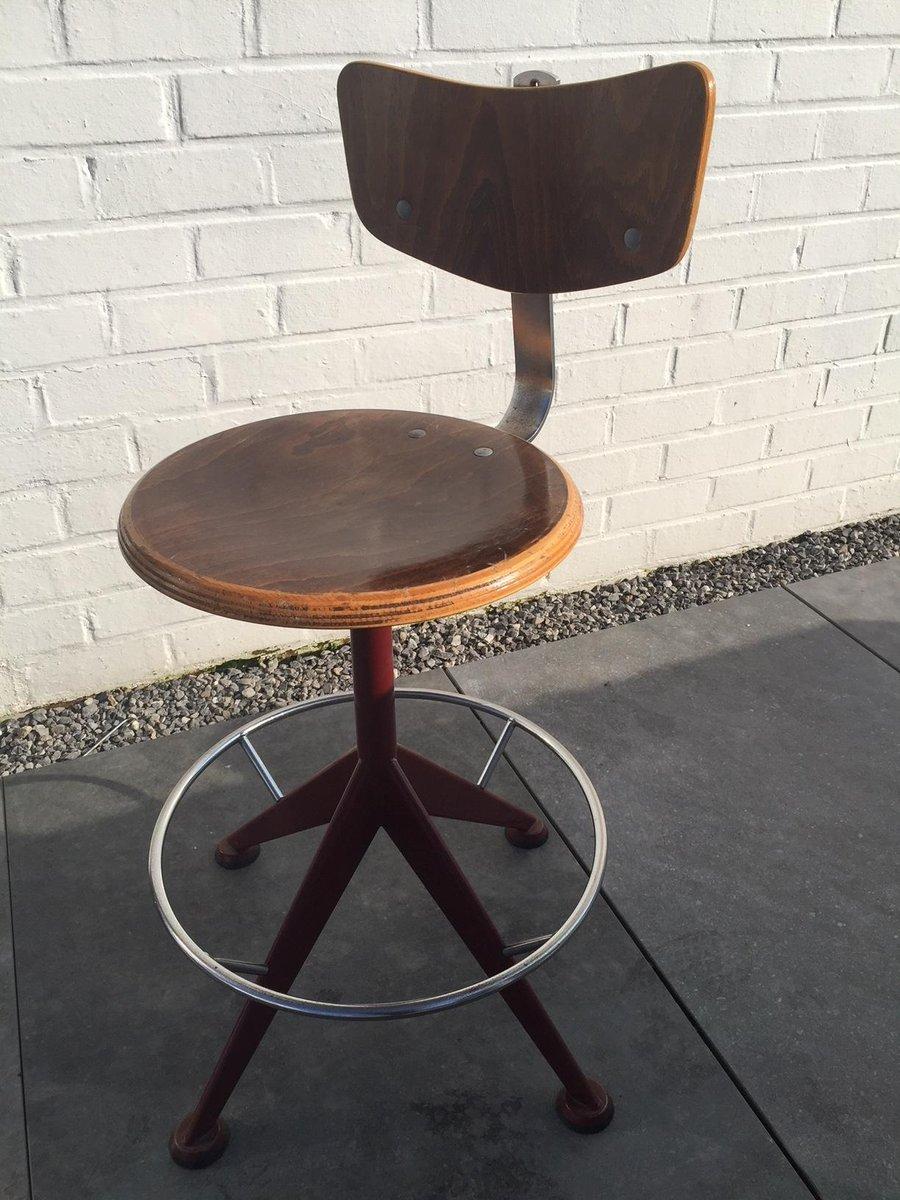 vintage italian bar stool by jules wabbes for velca. Black Bedroom Furniture Sets. Home Design Ideas