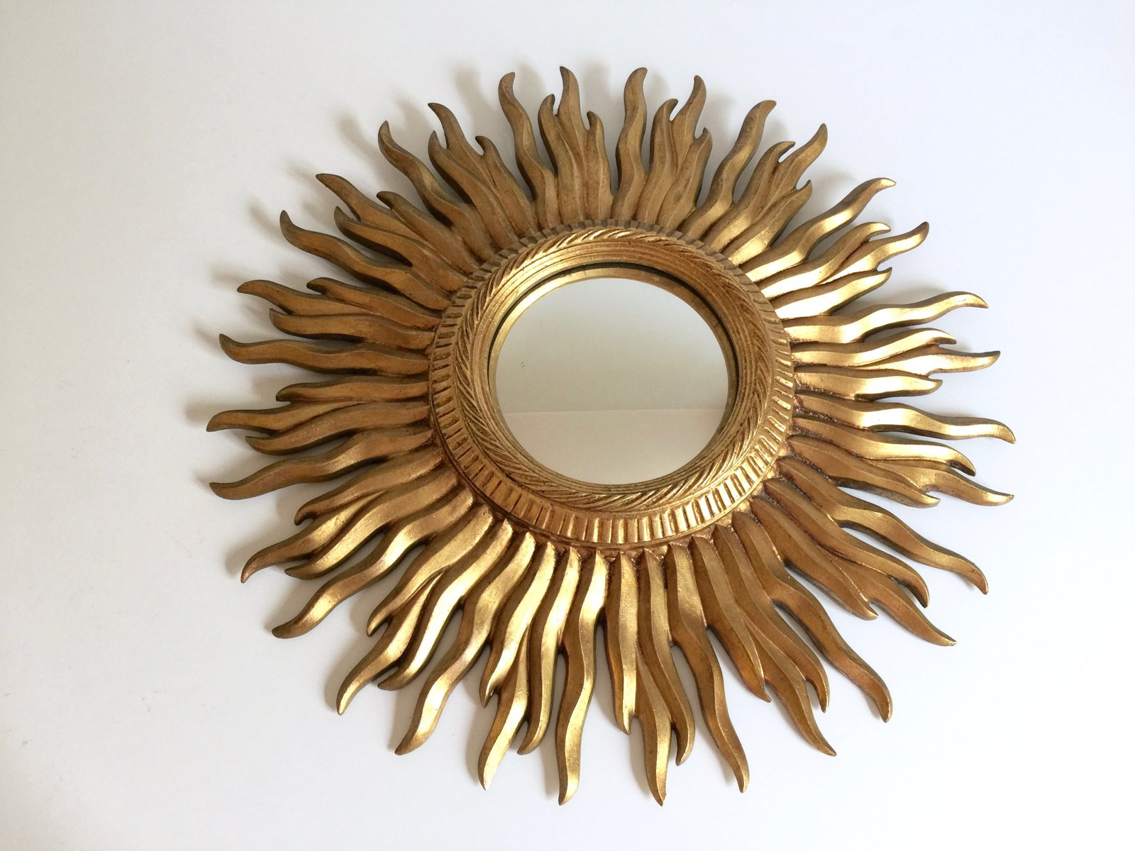 Vine Art Deco Konvex Sunburst Mirror At Pamono