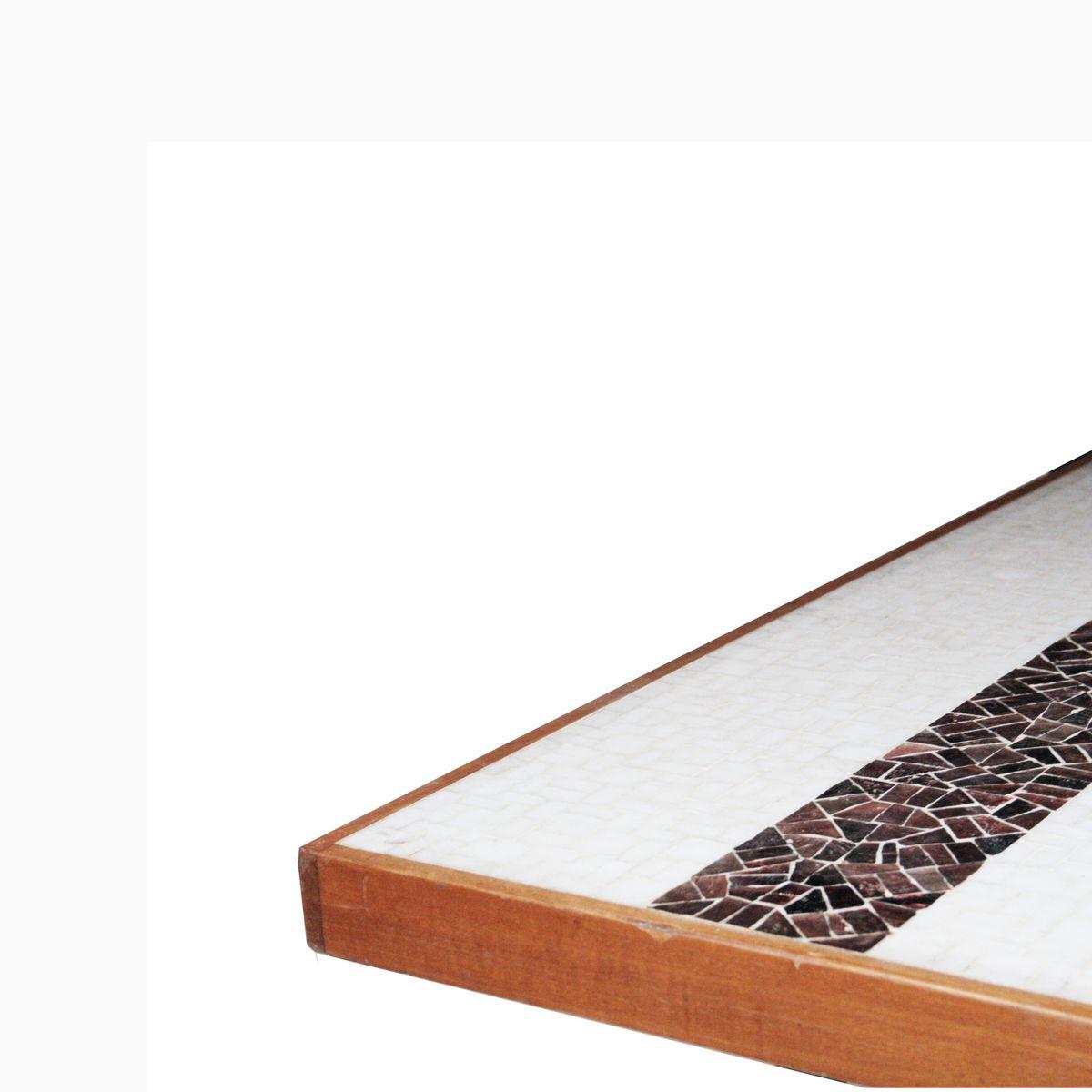 franz sischer tisch mit fliesen aus glas 1950er bei. Black Bedroom Furniture Sets. Home Design Ideas