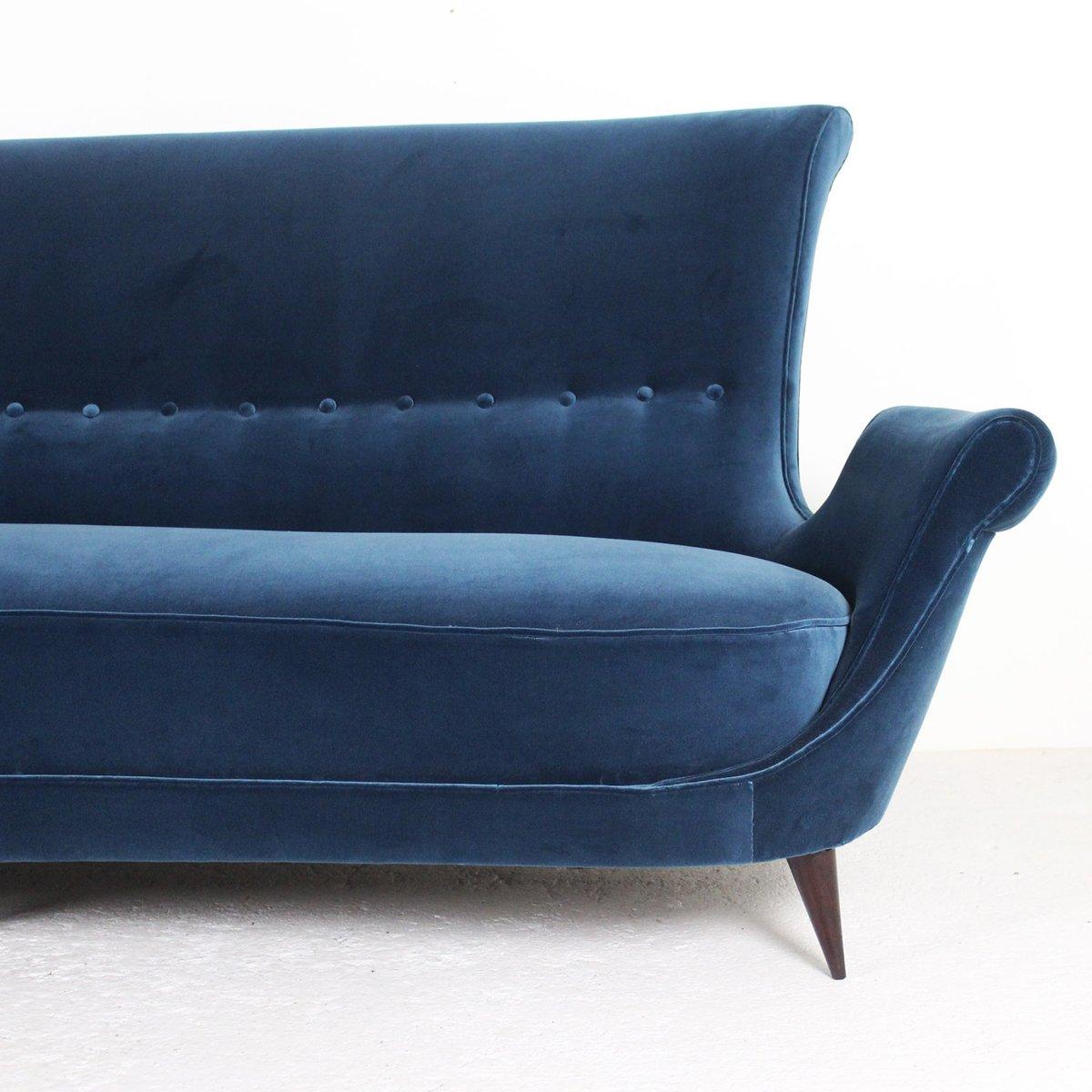 Velour Sofa blue velour sofa 1950s for sale at pamono