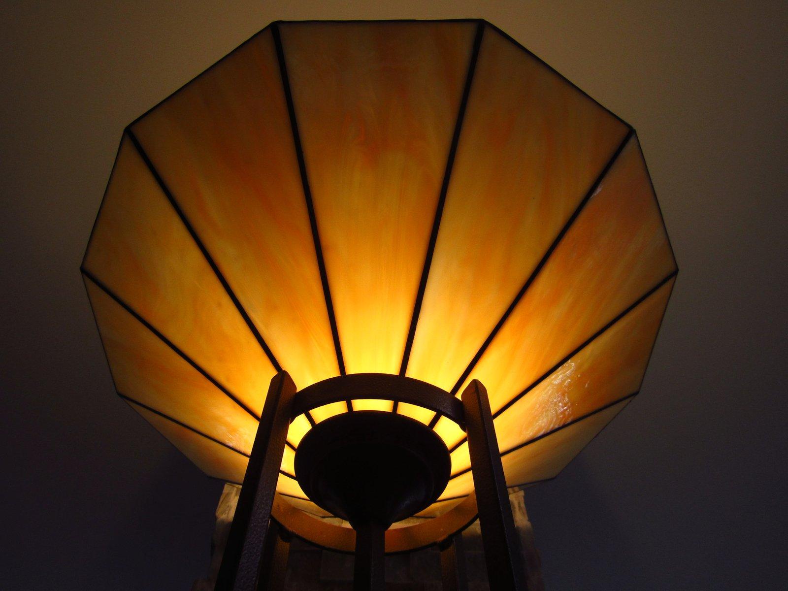 art d co stehlampe aus glas 1940er bei pamono kaufen. Black Bedroom Furniture Sets. Home Design Ideas