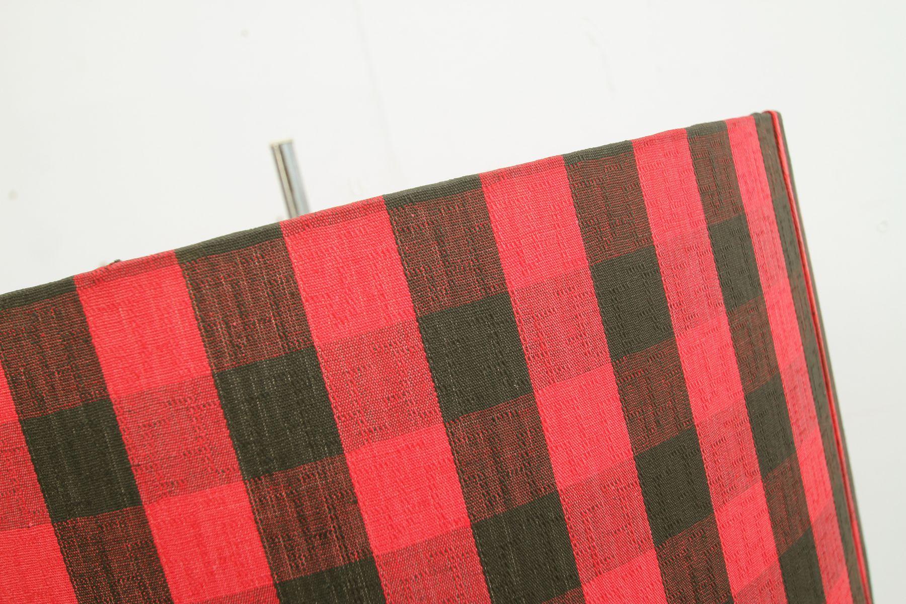 schwarz und rot gemusterte stehlampe 1960er bei pamono kaufen. Black Bedroom Furniture Sets. Home Design Ideas