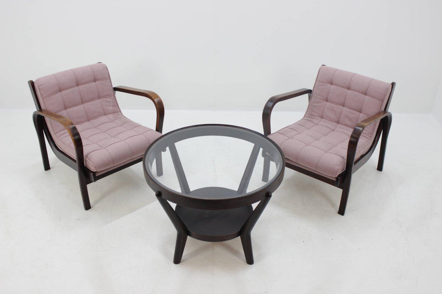 Lounge Chairs U0026 Coffee Table Set By A. Kropáček And K. Koželka For Interier  Praha, 1960s For Sale At Pamono