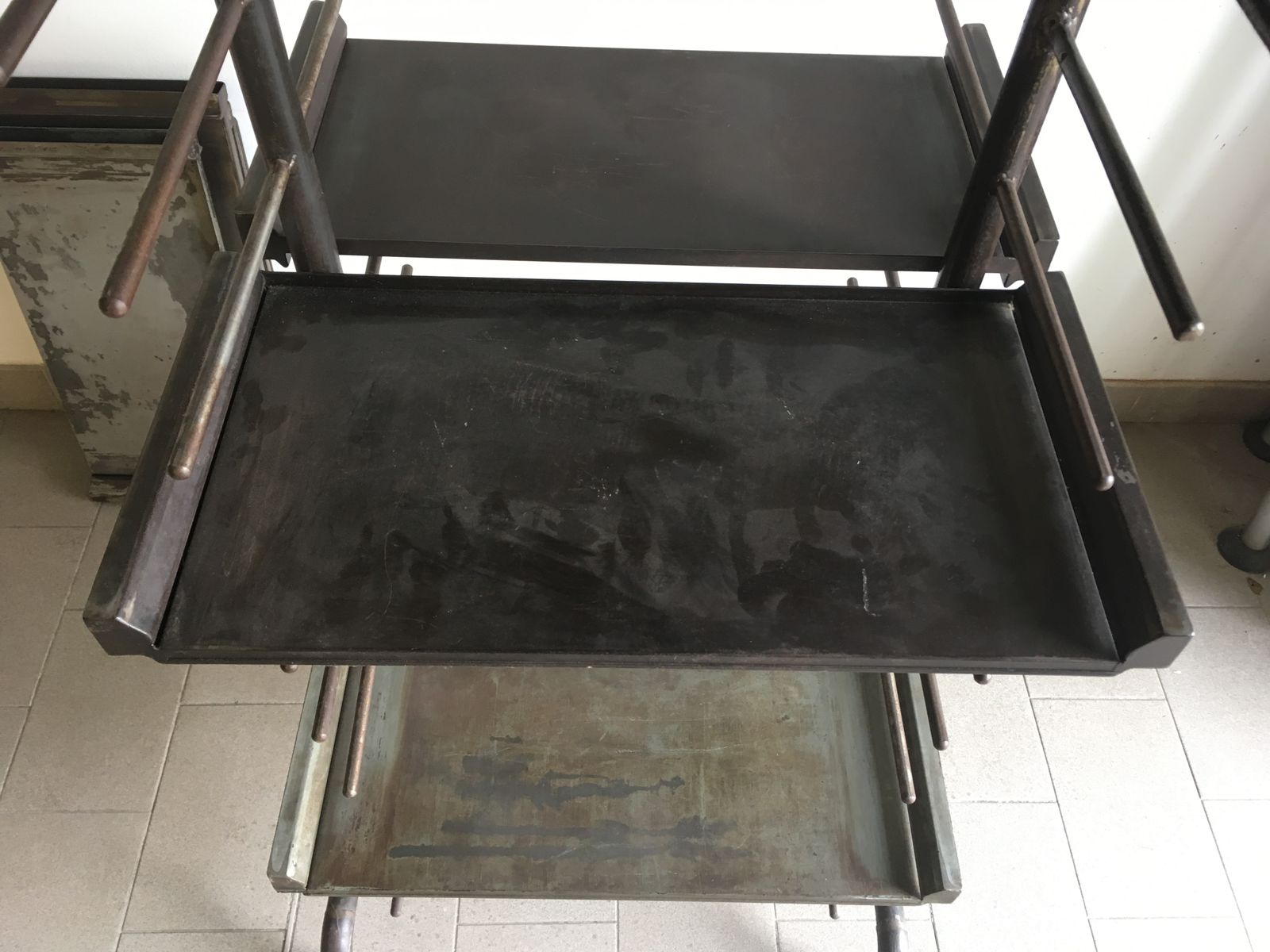 Antique Industrial Rack or Bookcase in Iron for sale at Pamono