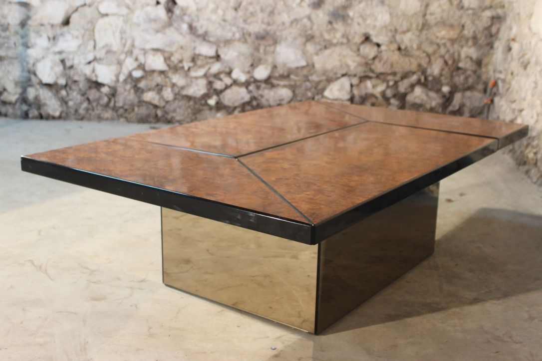 Coffee table with bar by paul michel for roche bobois - Tables de chevet roche bobois ...