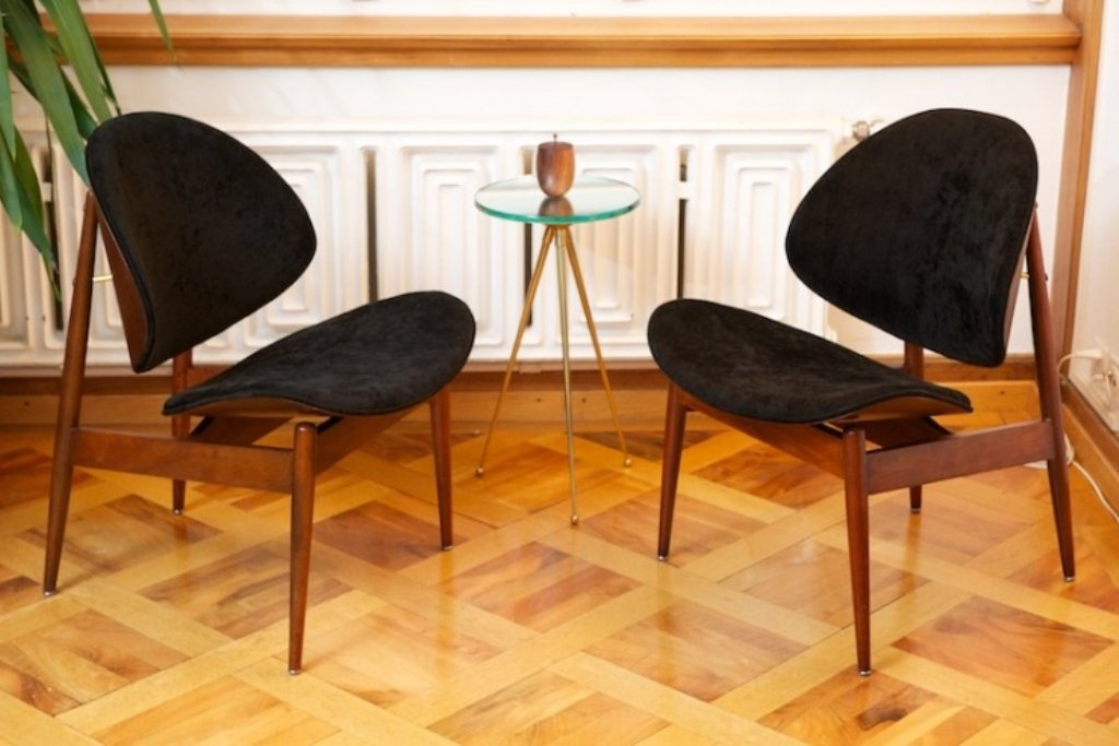 Clamshell Chair By Seymour James Wiener For Kodawood, 1961 For Sale At  Pamono