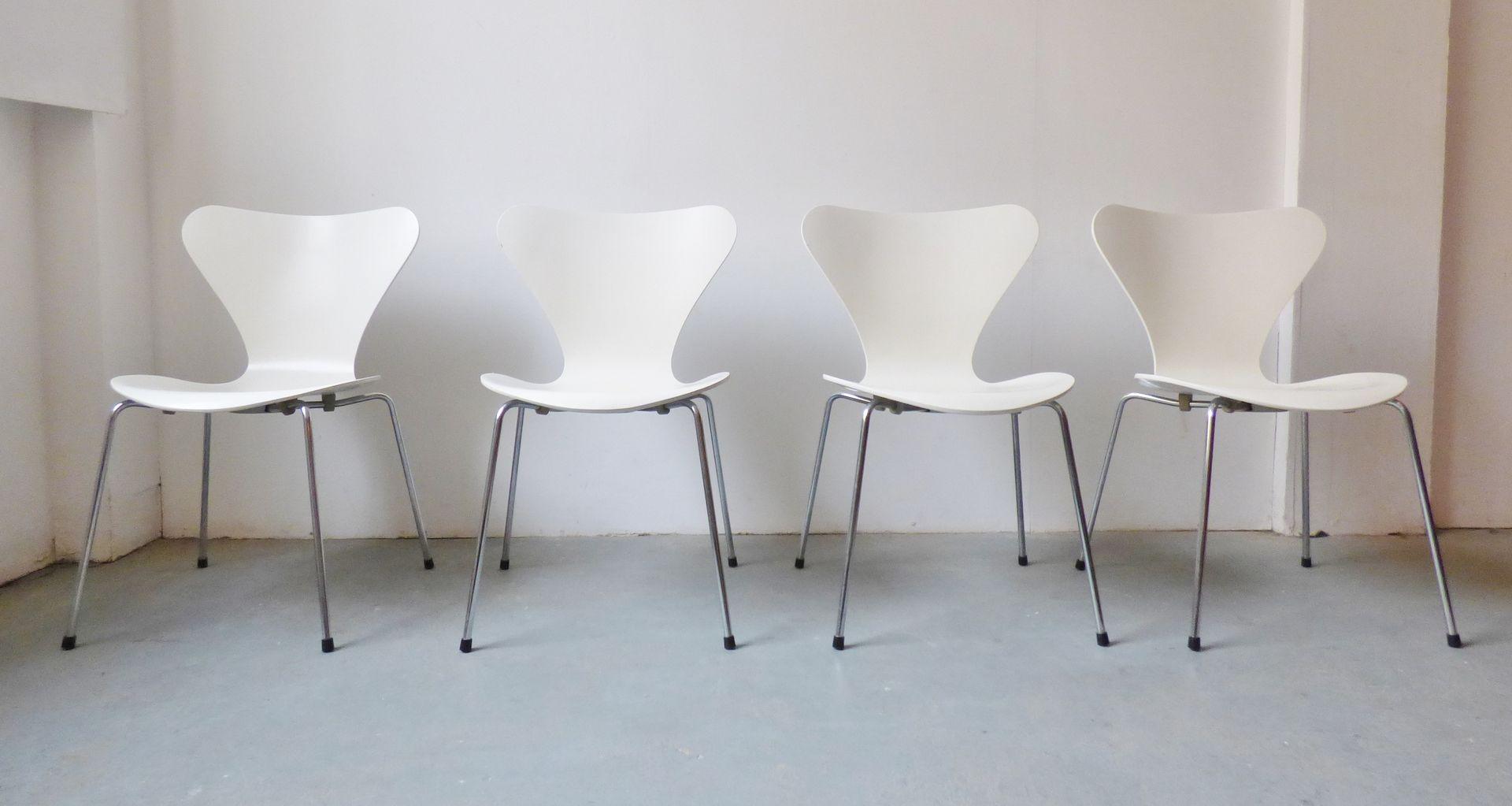 3107 st hle von arne jacobsen f r fritz hansen 1984 4er set bei pamono kaufen. Black Bedroom Furniture Sets. Home Design Ideas