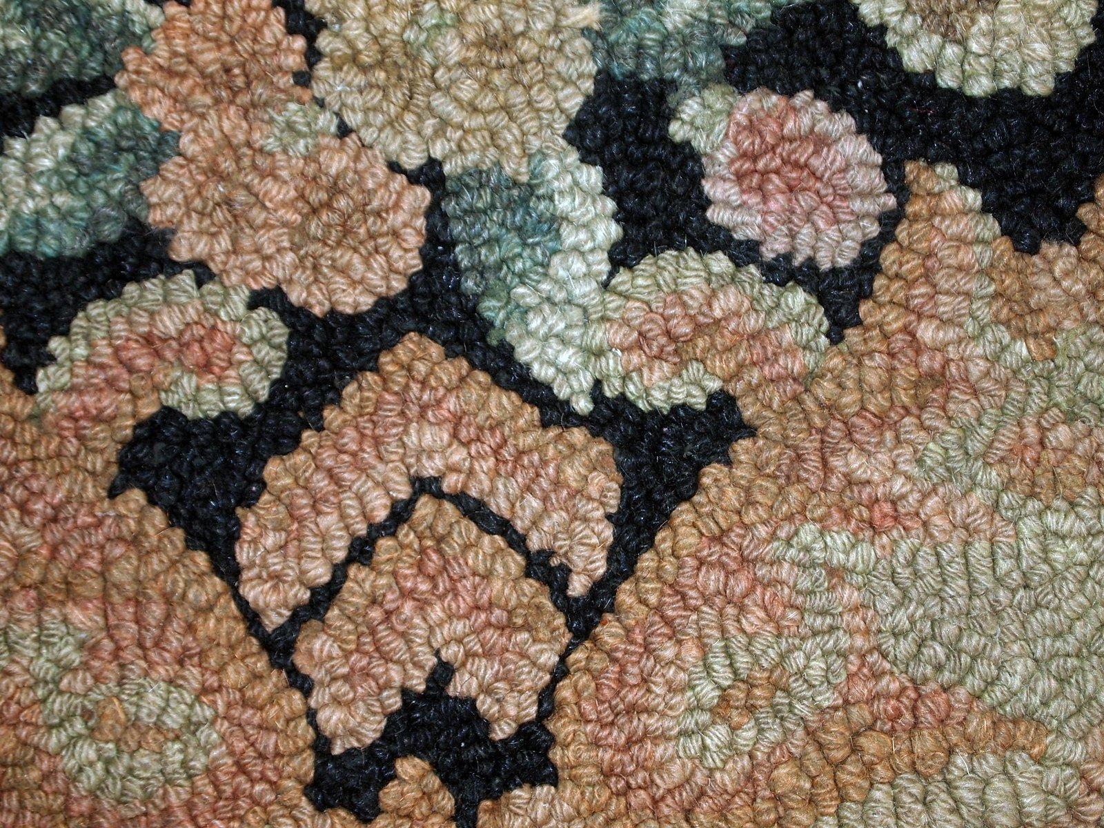 handgekn pfter amerikanischer vintage teppich 1930er bei pamono kaufen. Black Bedroom Furniture Sets. Home Design Ideas