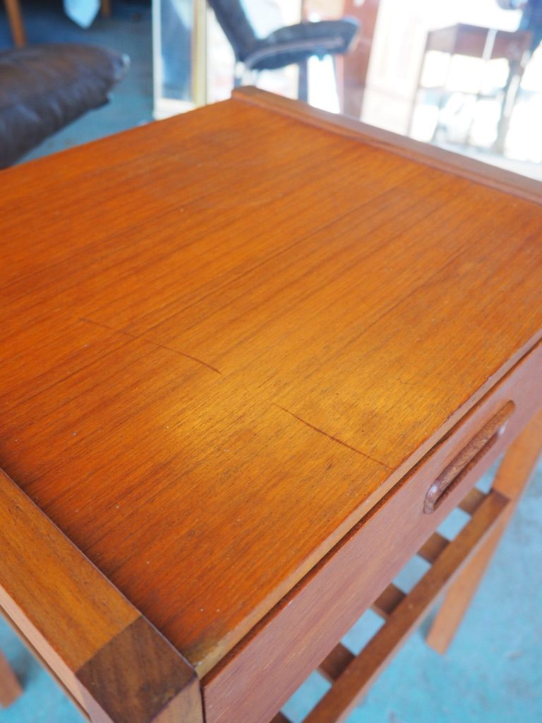 Vintage small teak lamp table for sale at pamono vintage small teak lamp table 7 25500 price per piece aloadofball Images