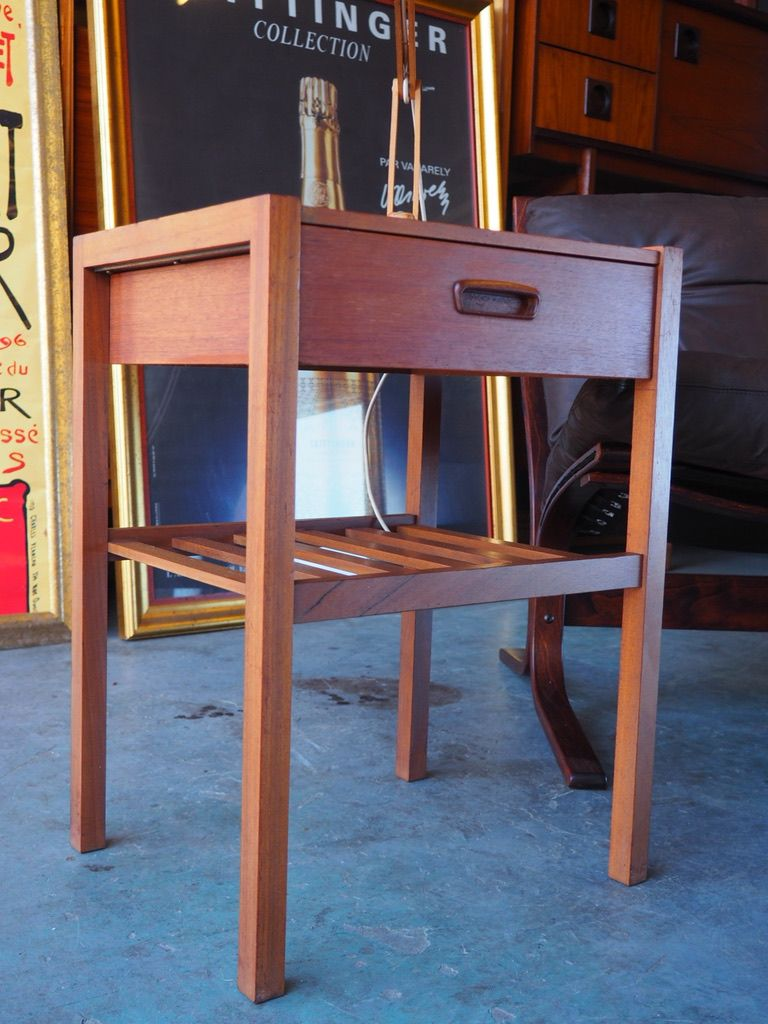 Vintage small teak lamp table for sale at pamono vintage small teak lamp table aloadofball Images