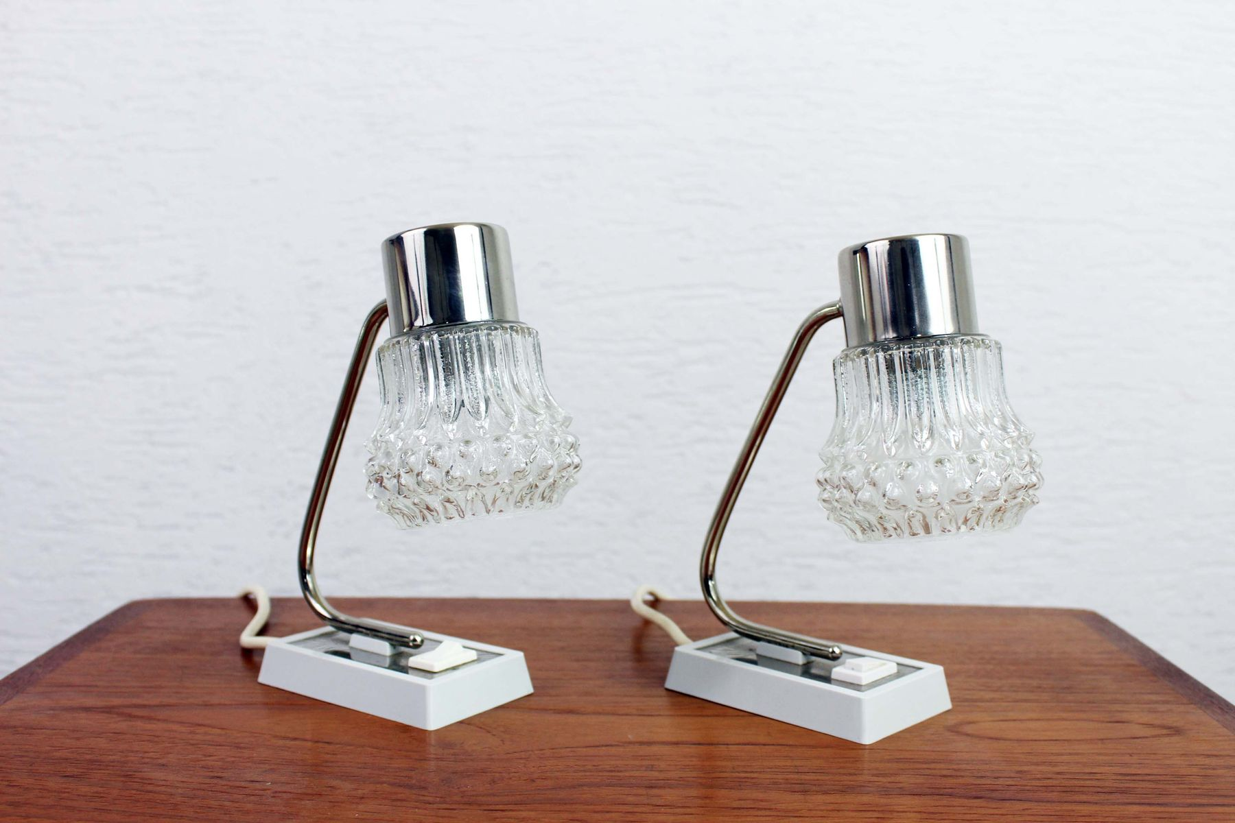Vintage Art Deco Bedside Lamps Set Of 2 For Sale At Pamono