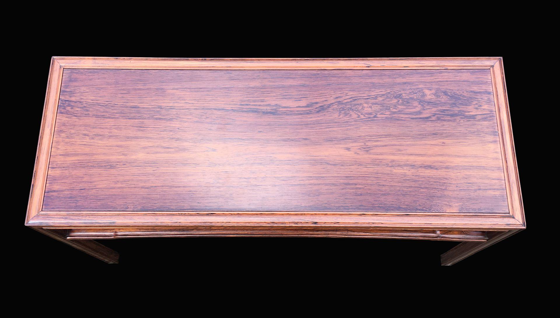 Table D Appoint Mod Le 1975 En Palissandre Massif Par Fritz  # Modeles Bois Massif Salon Palissandre