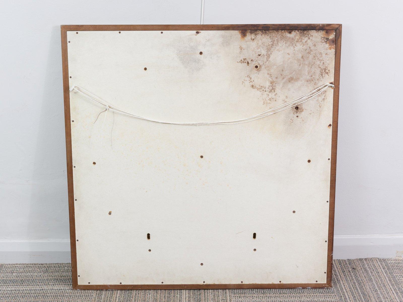 gro er runder vintage spiegel mit goldenem holzrahmen bei. Black Bedroom Furniture Sets. Home Design Ideas