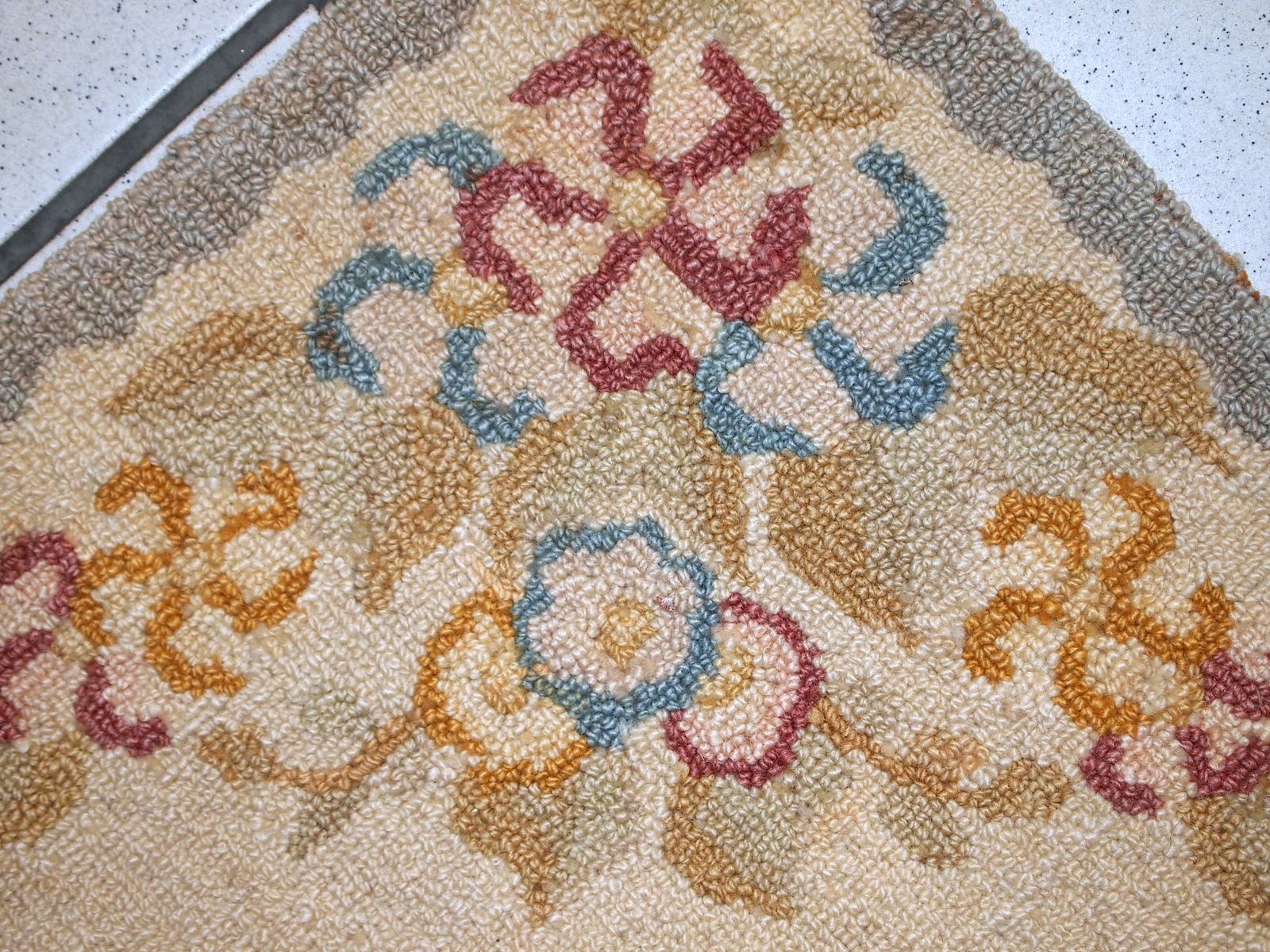 antiker handgemachter amerikanischer teppich 1940er bei pamono kaufen. Black Bedroom Furniture Sets. Home Design Ideas