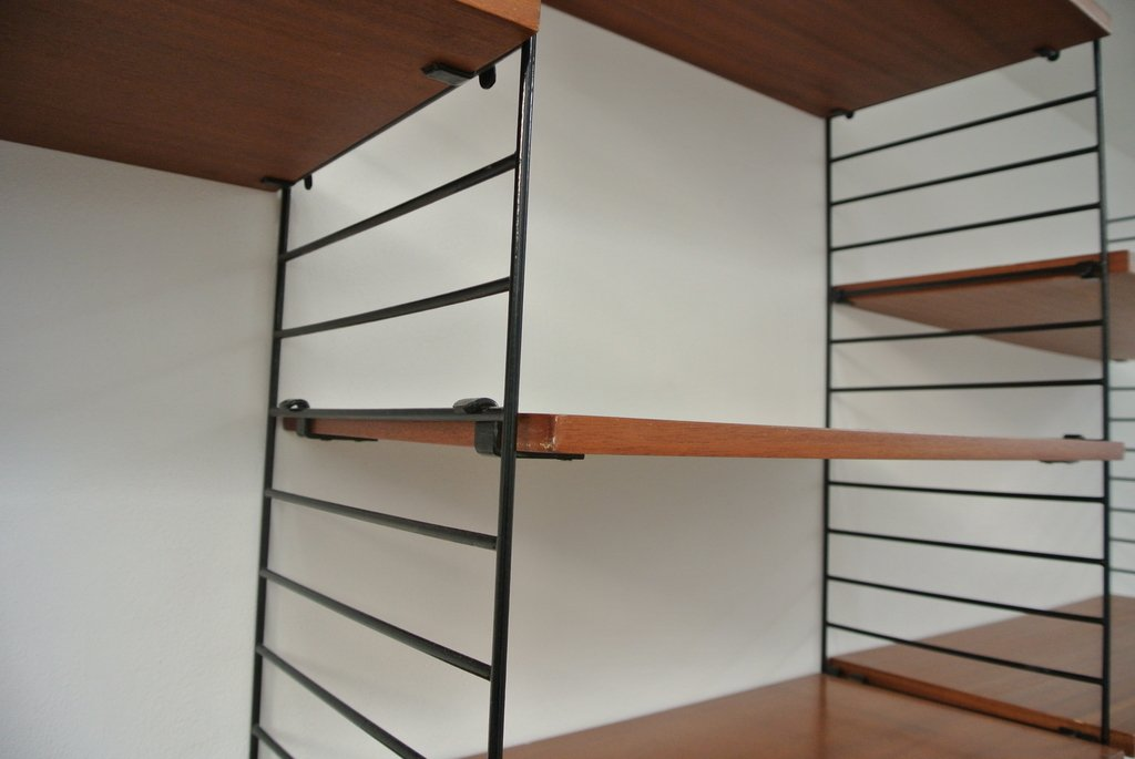 modulares mid century wand b cherregal 1960er bei pamono. Black Bedroom Furniture Sets. Home Design Ideas