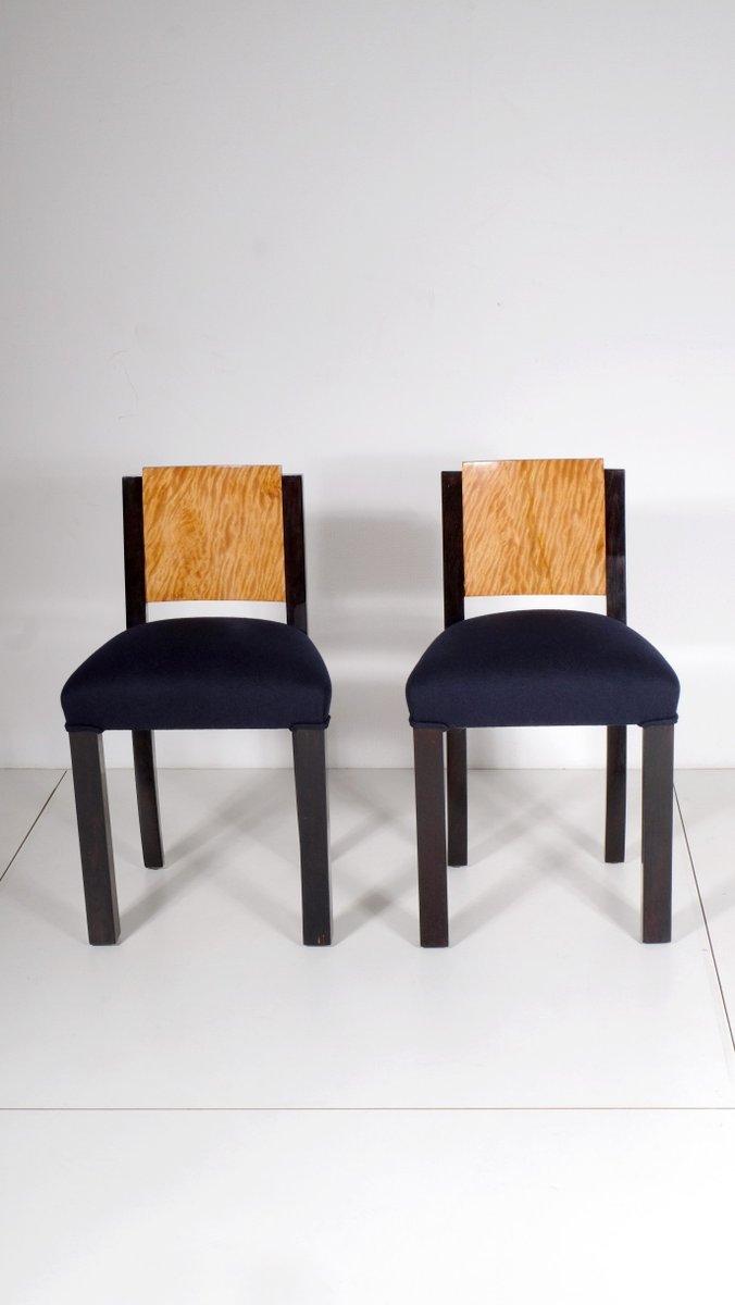 art deco mahagoni furnier st hle 2er set bei pamono kaufen. Black Bedroom Furniture Sets. Home Design Ideas