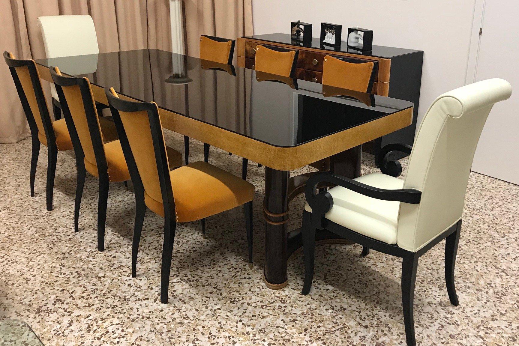 table de salle manger vintage italie 1940s en vente sur pamono. Black Bedroom Furniture Sets. Home Design Ideas