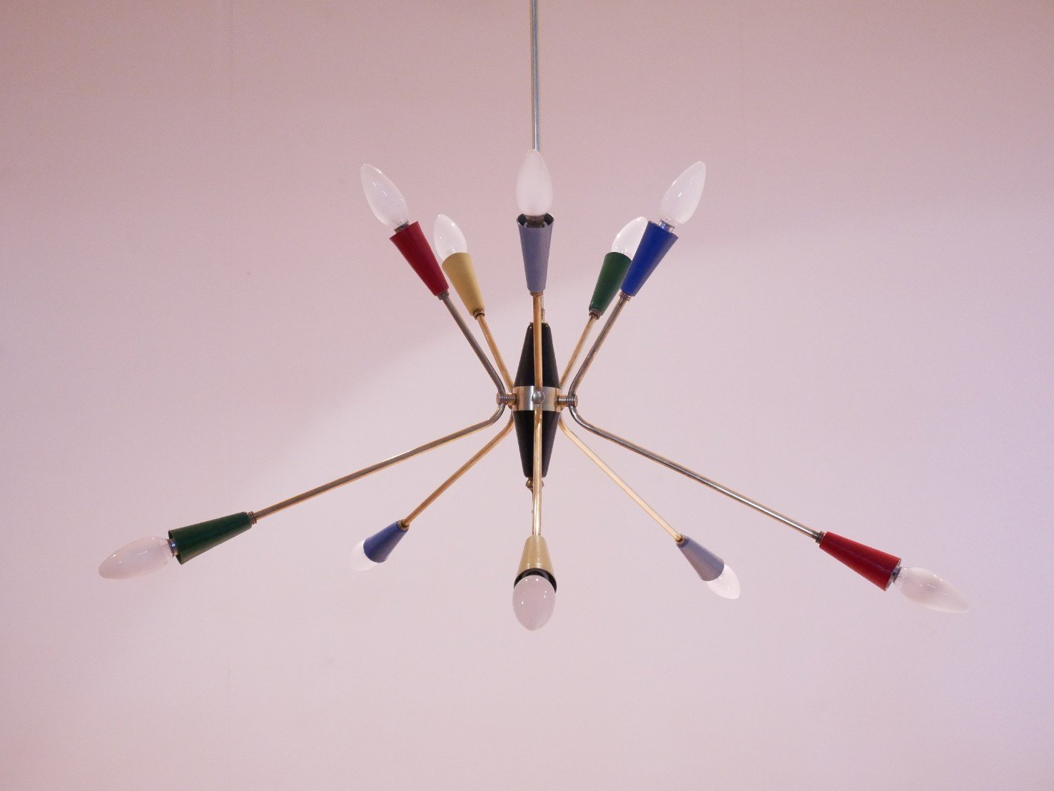 Italian multi colored sputnik chandelier 1950s for sale at pamono arubaitofo Image collections